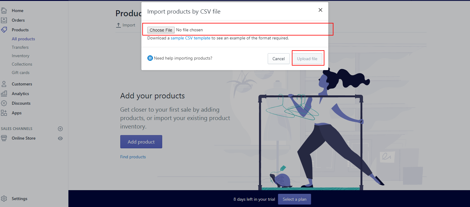 Listing Products In Your Shopify Store - Shopify csv template