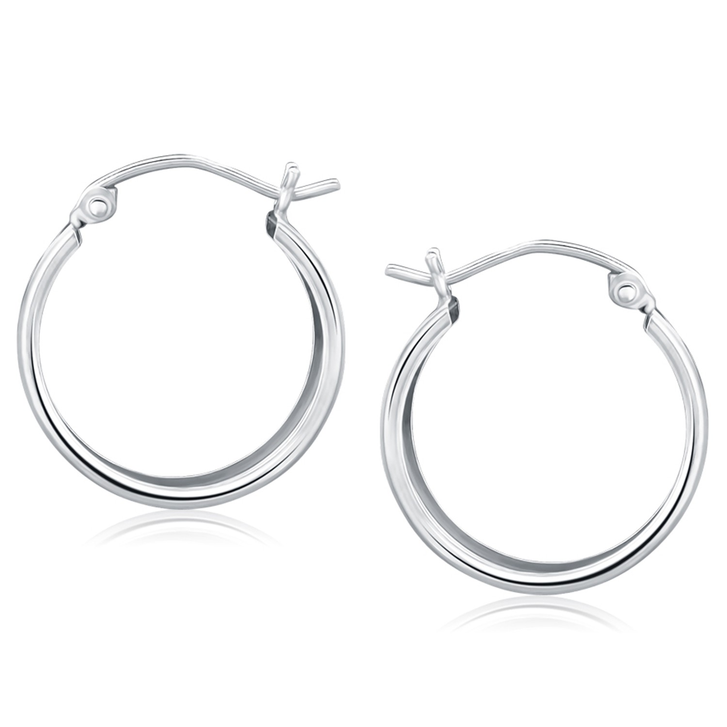 extra large hoop earrings with flat sides in 14k white. Black Bedroom Furniture Sets. Home Design Ideas