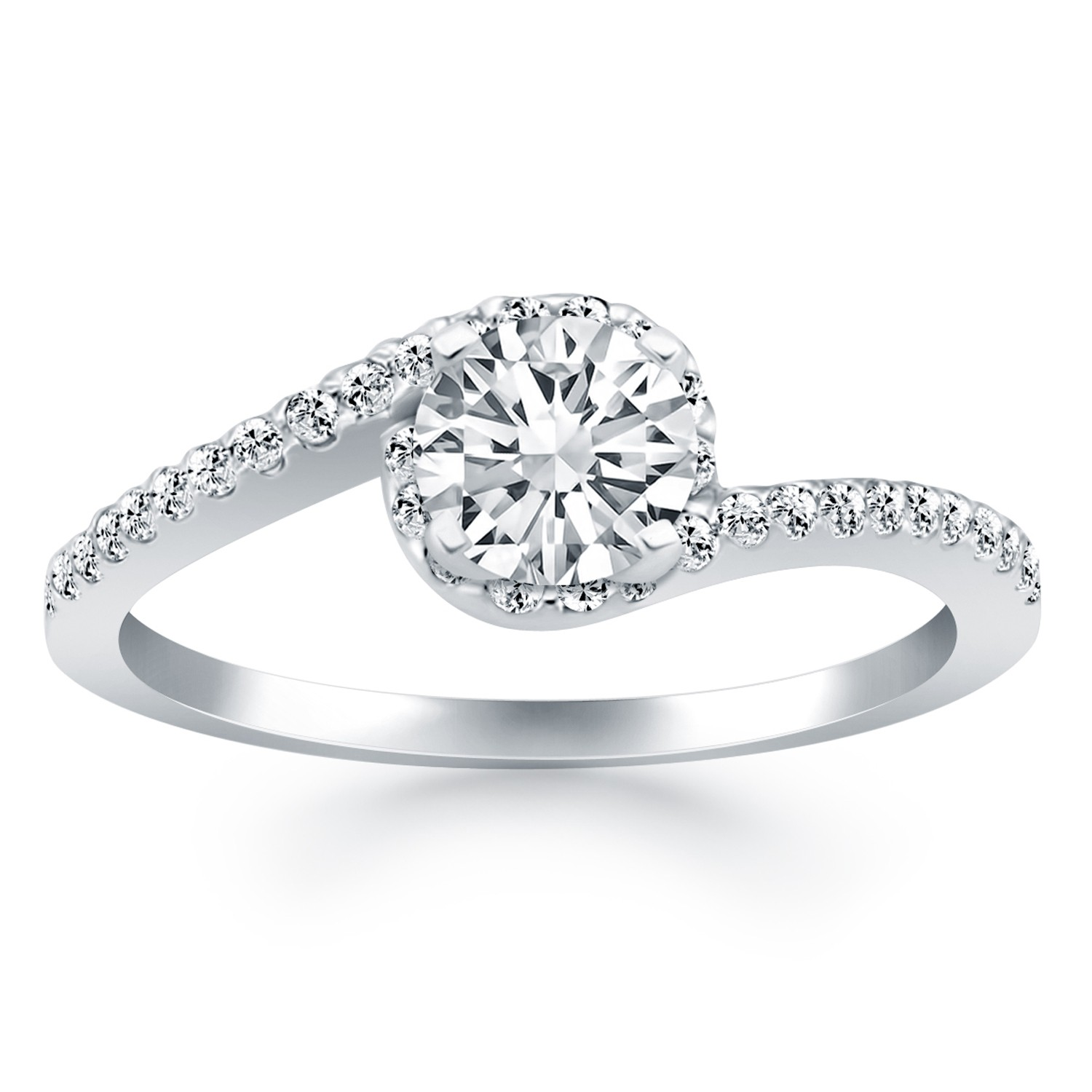 Engagement Ring Spiral Setting