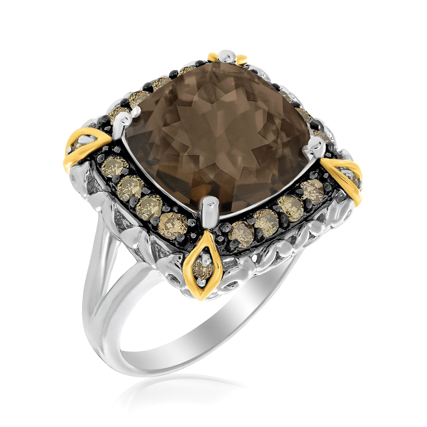 Smokey Quartz Ring With Brown Diamond Accents In 18k. Tanishq Wedding Rings. Shape Engagement Rings. Rosewood Wedding Rings. Onion Wedding Rings. Astrology Engagement Rings. Varsity Rings. Santa Rings. Class Wedding Rings