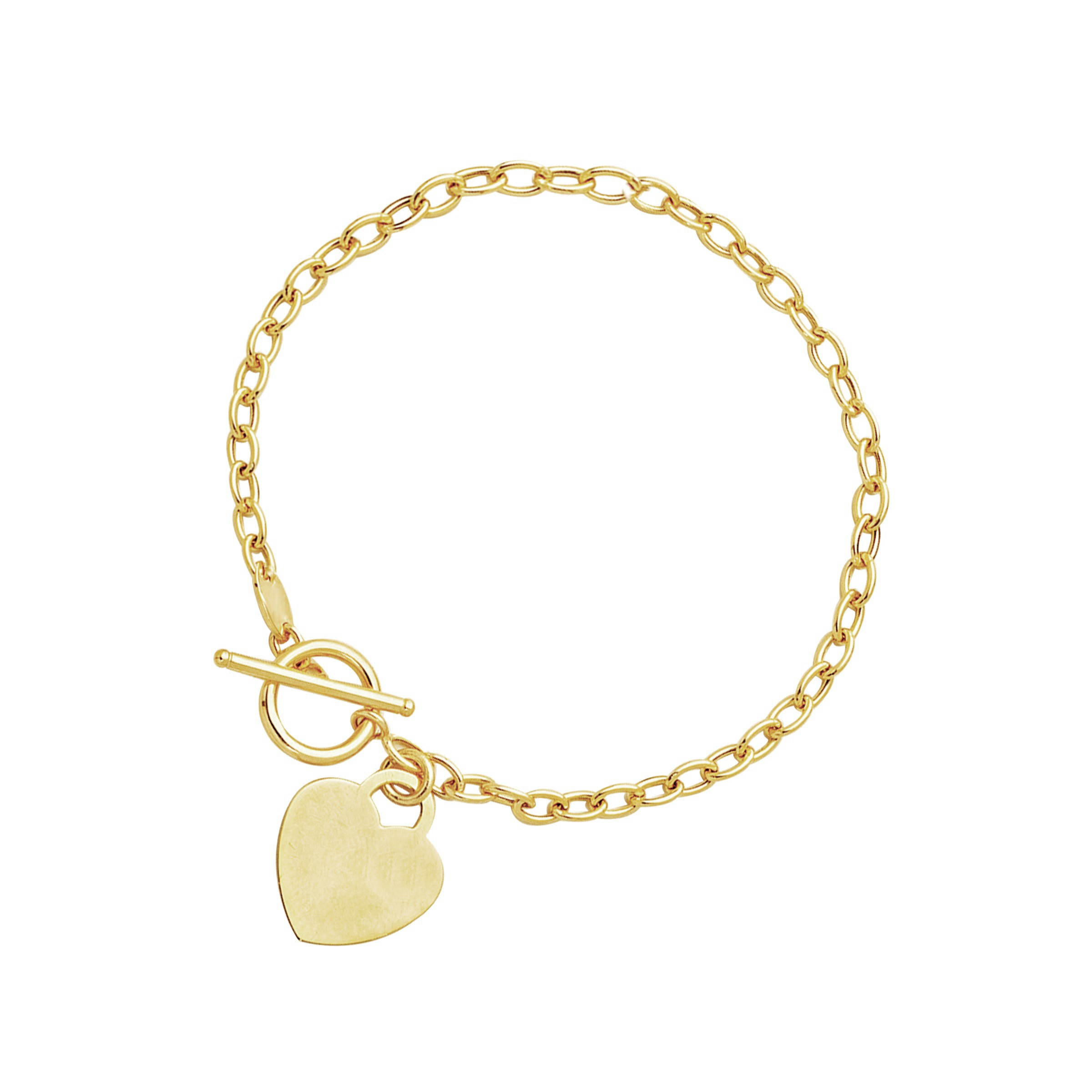 accent toggle bracelet in 14k yellow gold richard