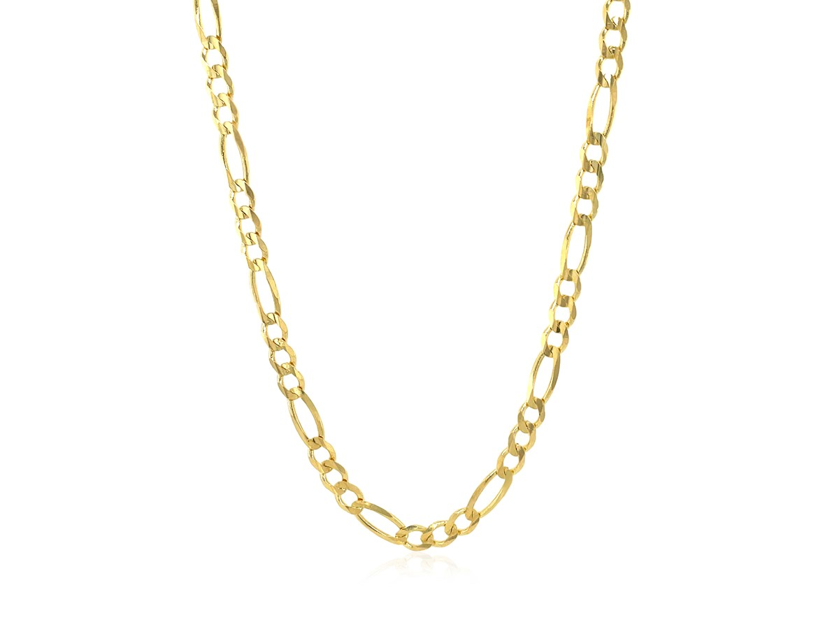 Solid Figaro Chain in 14k Yellow Gold (3.8mm) - Richard ...