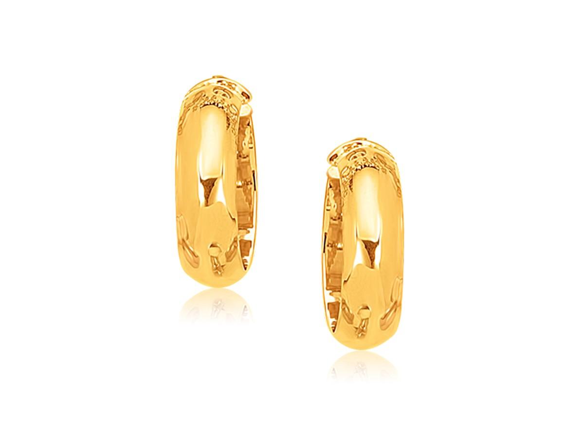 Large Wide Hoop Earrings In 14k Yellow Gold Richard