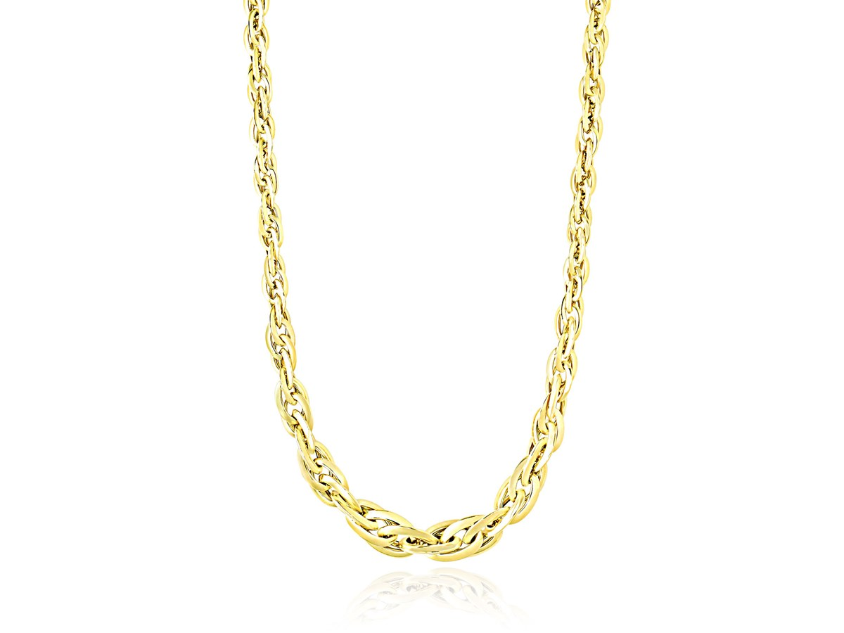Singapore Chain Style Necklace in 14k Yellow Gold ...
