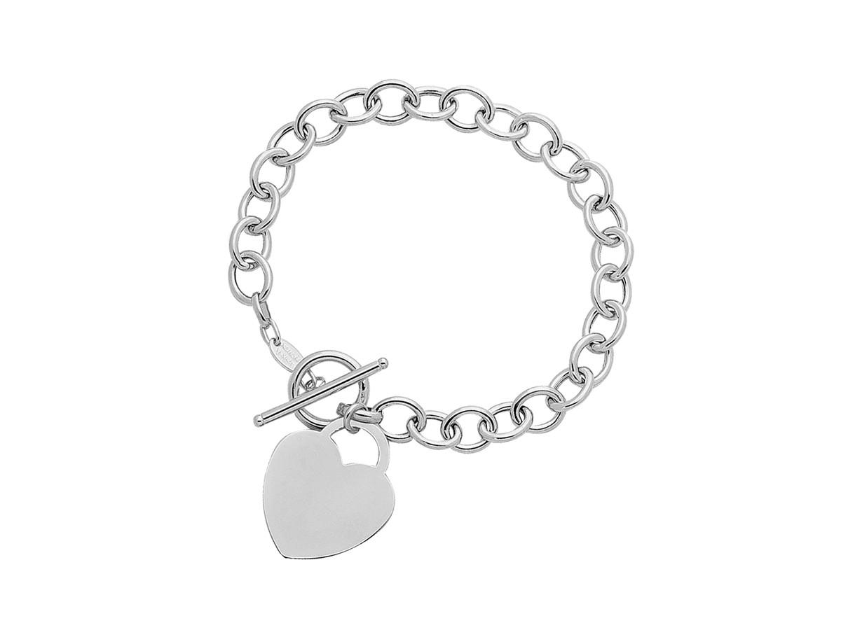 toggle heart bracelet in 14k white gold richard cannon