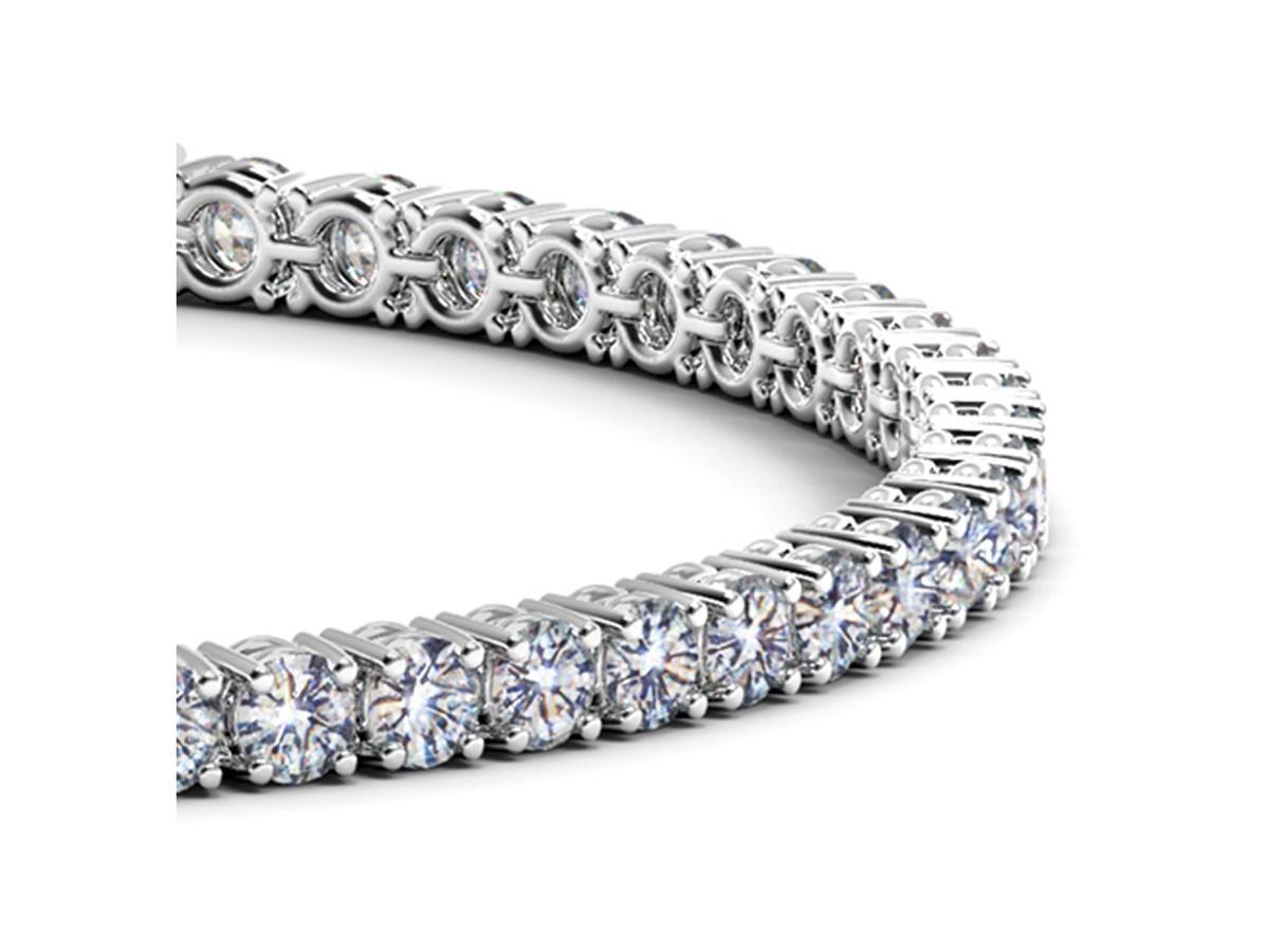Round Diamond Tennis Bracelet In 14k White Gold 6 Cttw