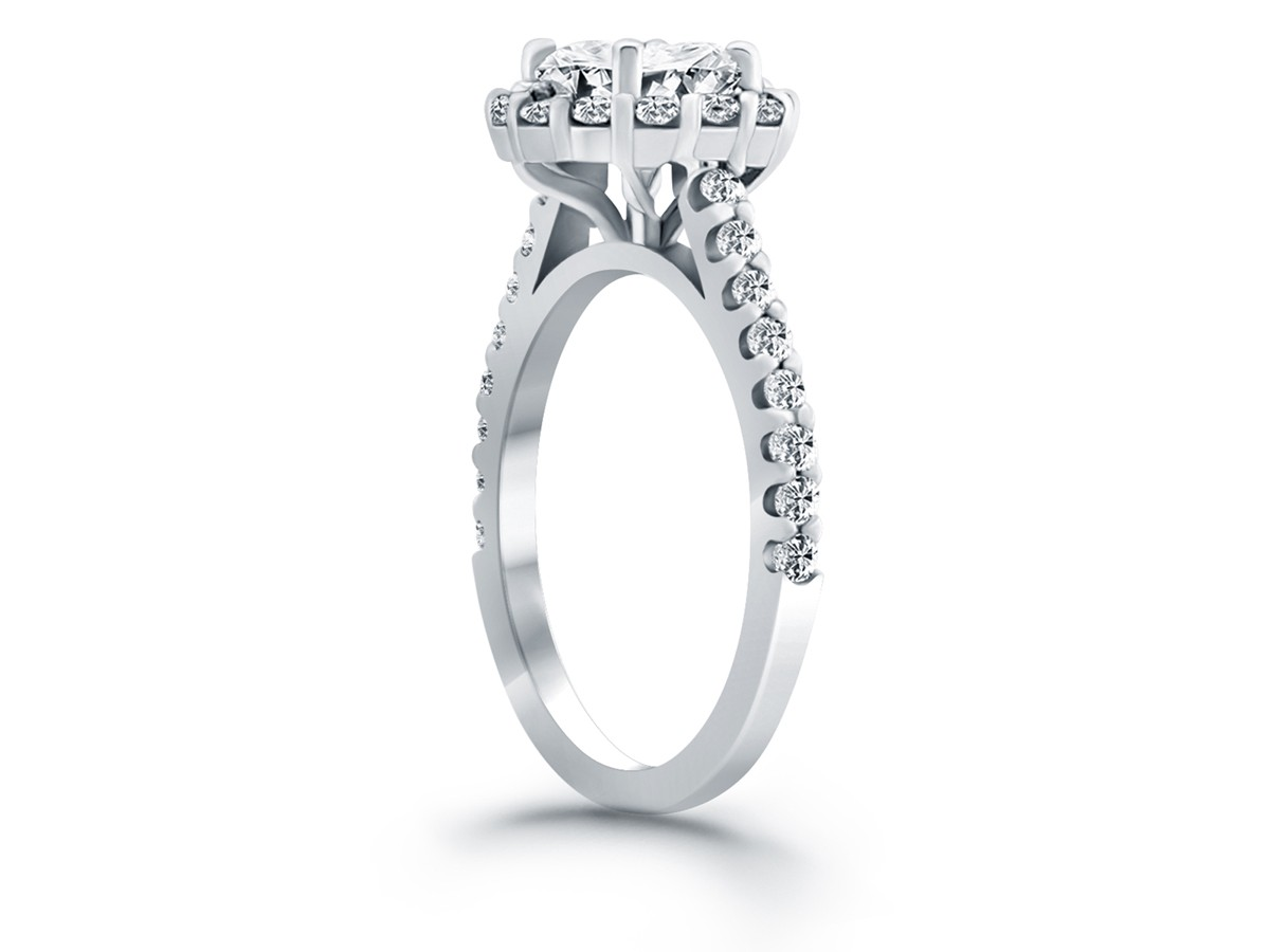 Cathedral Engagement Ring Mounting With Micro Prong