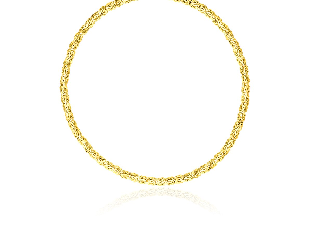byzantine motif necklace in 14k yellow gold richard