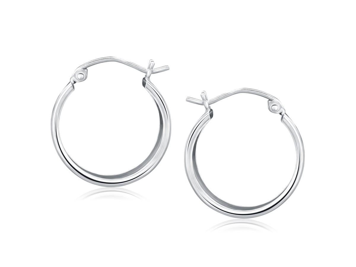 Large Diamond Hoop Earrings White Gold