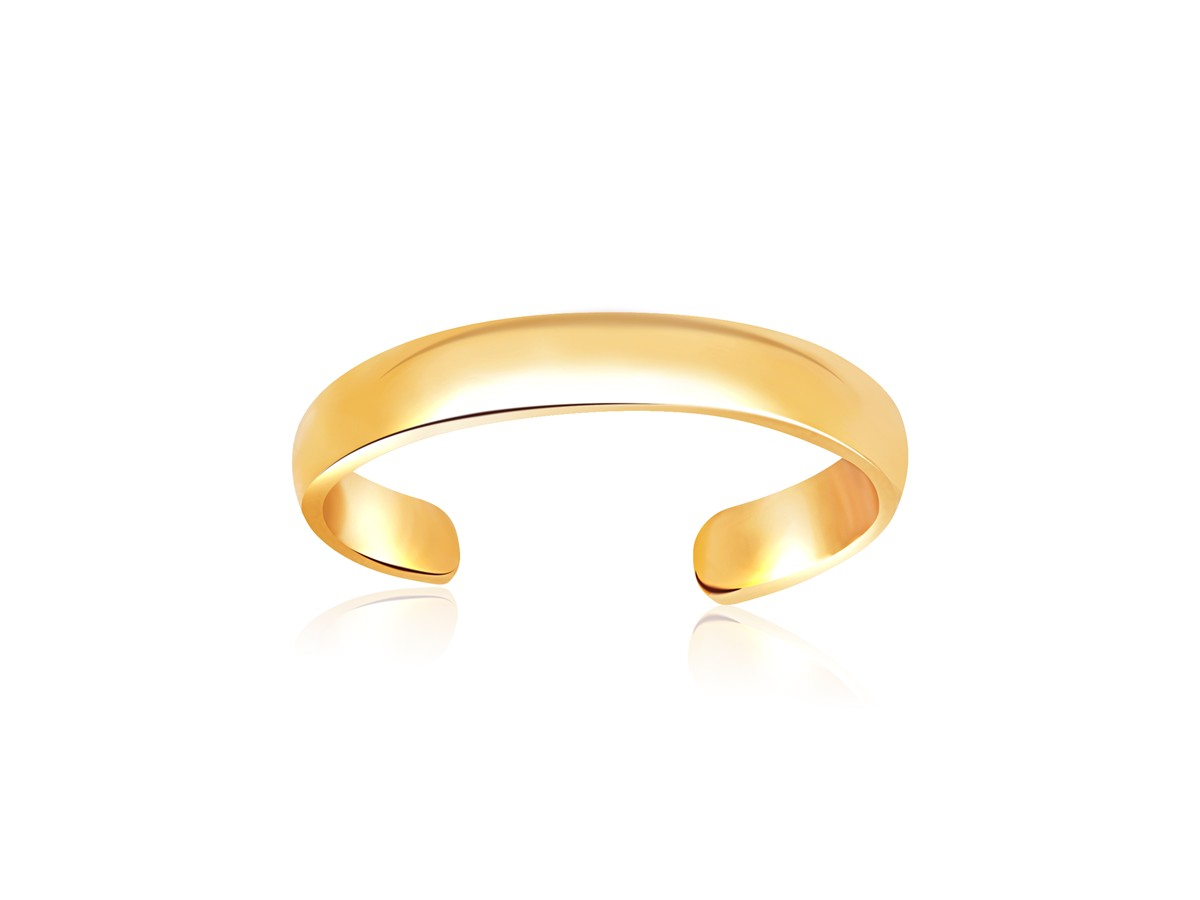 polished simple toe ring in 14k yellow gold richard