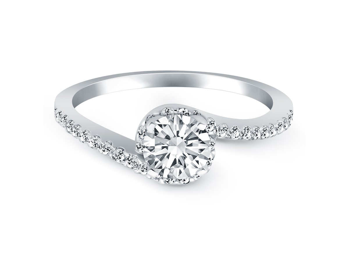 princess t engagement band w two swirl halo tone ct rings ring and