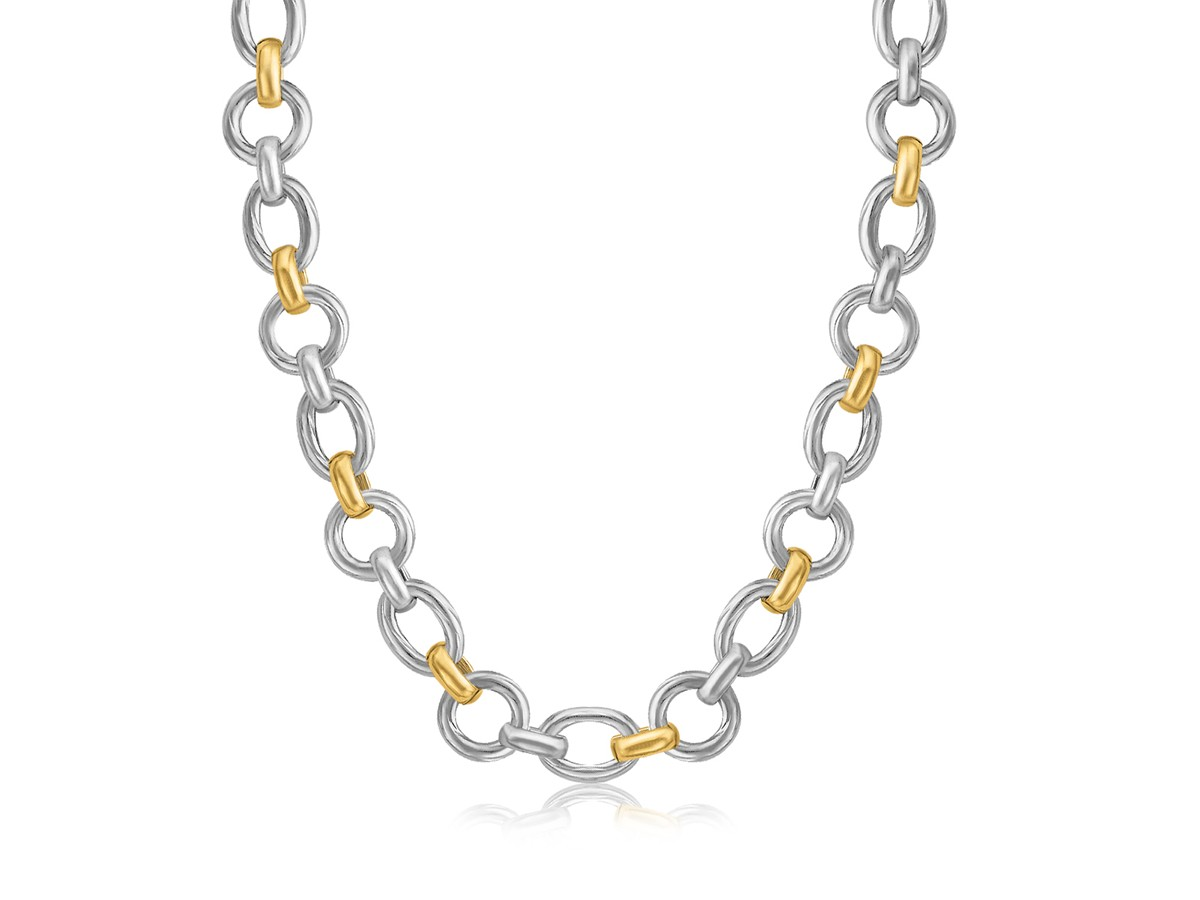 Multi Style Diamond Cut Rhodium Plated Chain Necklace In