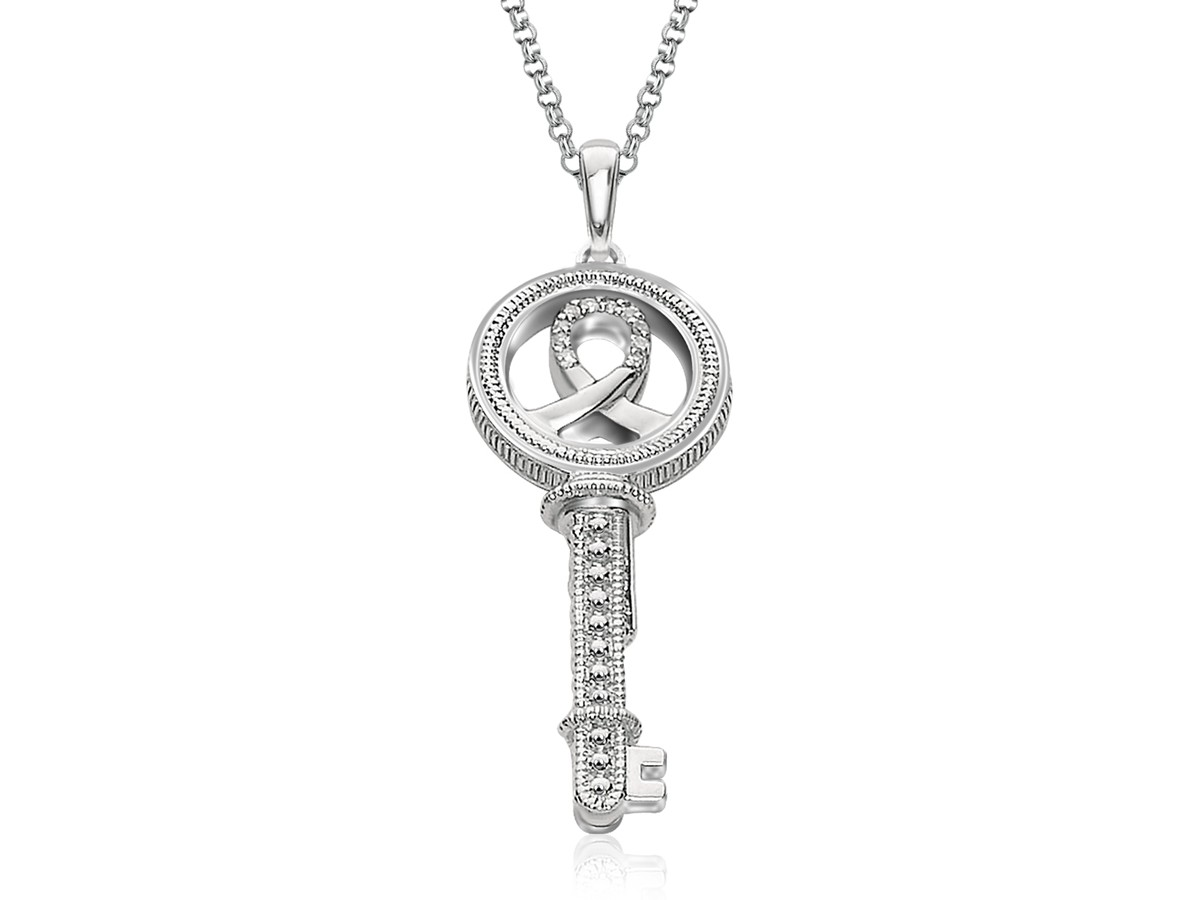 wiring co vu auto electrical wiring diagramreversible key pendant with ribbon in 14k rose gold
