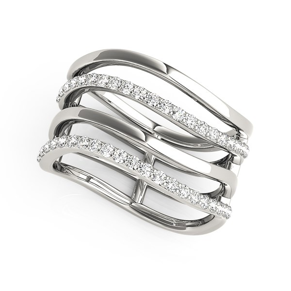 Multi Band Diamond Ring In 14k White Gold 3 8 Cttw Richard Cannon Jewelry