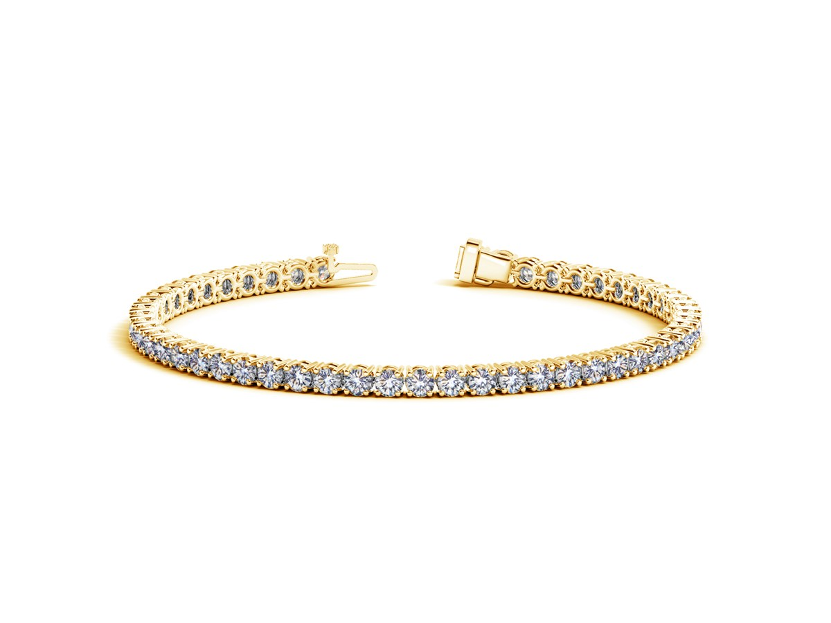 Round Diamond Tennis Bracelet In 14k Yellow Gold 6 Cttw