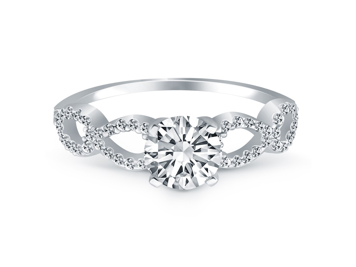 double mounting cannon in jewelry ring product richard infinity gold diamond white engagement