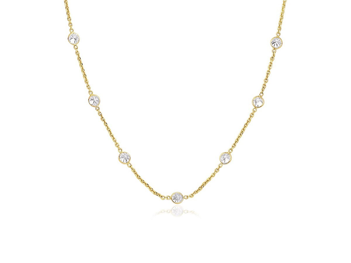 Cz By The Yard Long Links In 14k Yellow Gold Richard