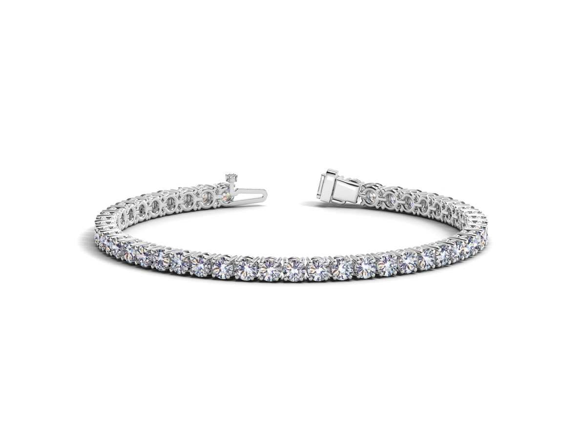 Round Diamond Tennis Bracelet In 14k White Gold 10 Cttw