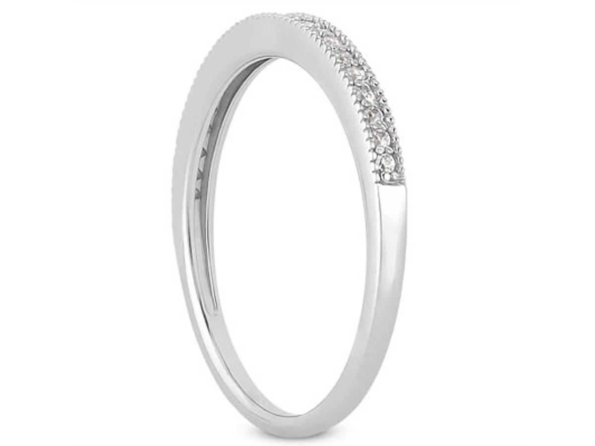diamond micro pave diamond milgrain wedding ring band in. Black Bedroom Furniture Sets. Home Design Ideas