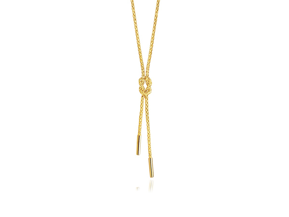 Knotted Lariat Necklace In 14k Yellow Gold Richard