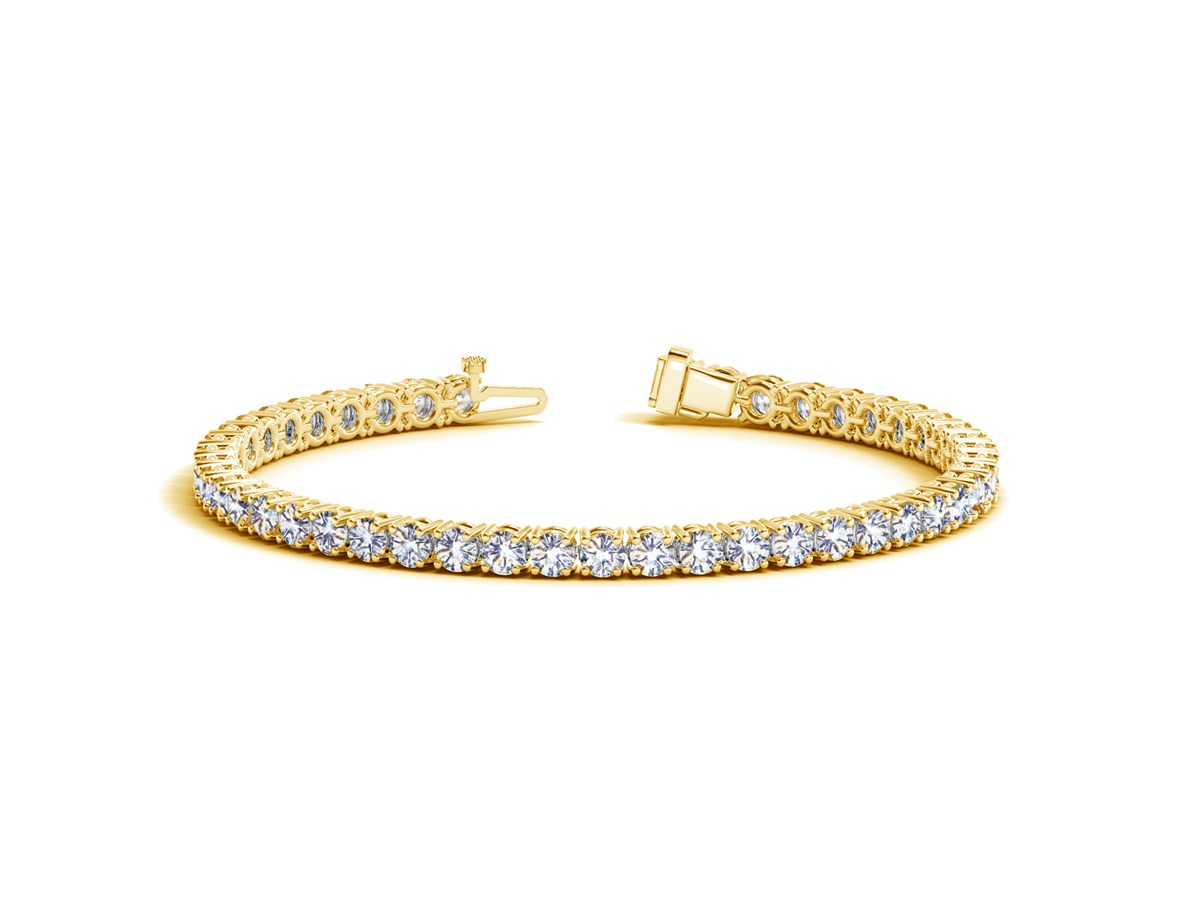Round Diamond Tennis Bracelet In 14k Yellow Gold 10 Cttw