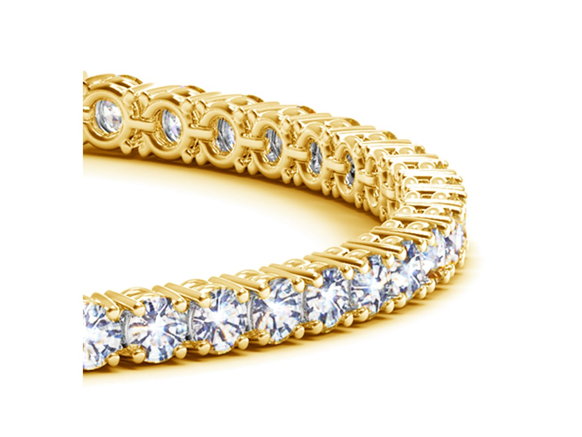 round diamond tennis bracelet in 14k yellow gold 10 cttw. Black Bedroom Furniture Sets. Home Design Ideas