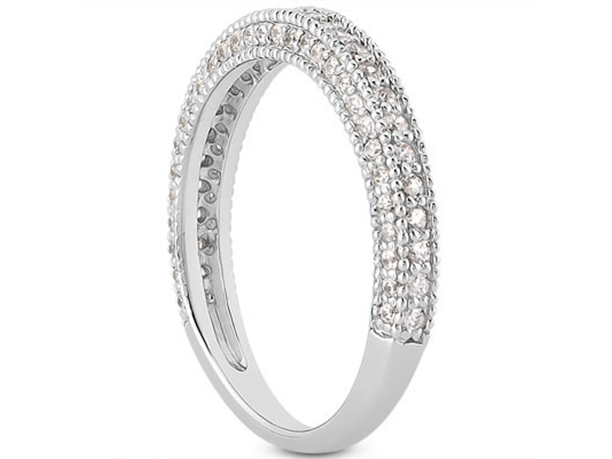diamond white v products shape band milgrain in ctw gold wedding