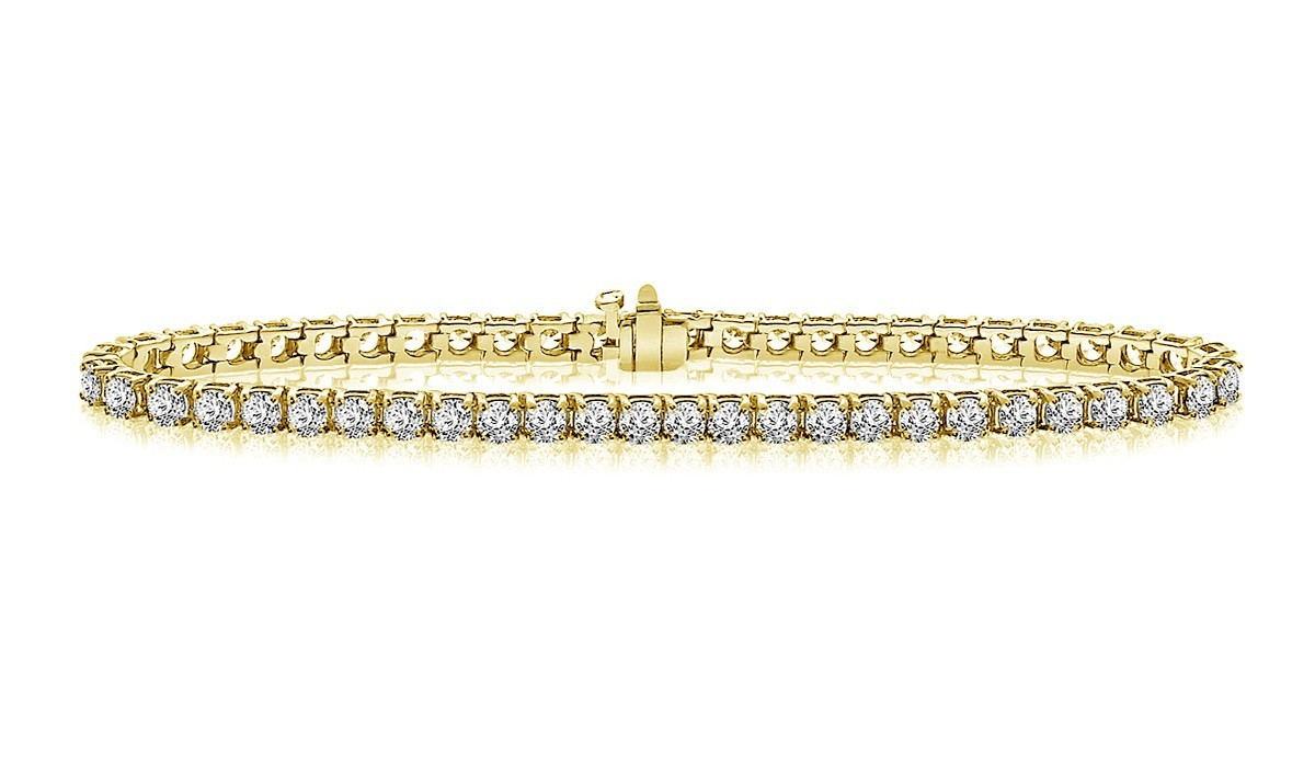 Classic Diamond Tennis Bracelet In 14k Yellow Gold 5 Ct