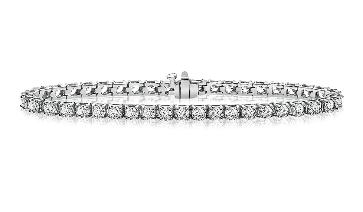 Classic Diamond Tennis Bracelet In 14k White Gold 8 Ct