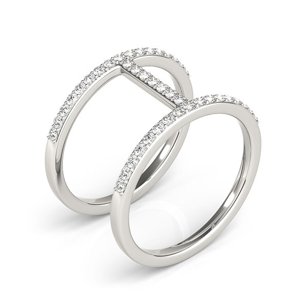 thin dual band ring in 14k white gold 3 8 ct tw